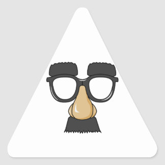 Groucho Glasses (a.k.a. the Beaglepuss) Triangle Sticker