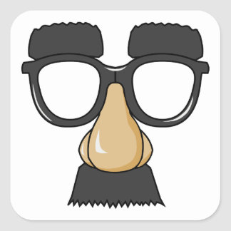 Groucho Glasses (a.k.a. the Beaglepuss) Square Sticker