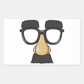 Groucho Glasses (a.k.a. the Beaglepuss) Rectangular Sticker
