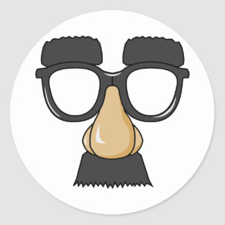 Groucho Glasses (a.k.a. the Beaglepuss) Classic Round Sticker