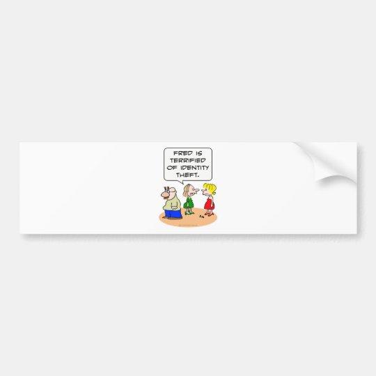 groucho glasses terrified identity theft bumper sticker