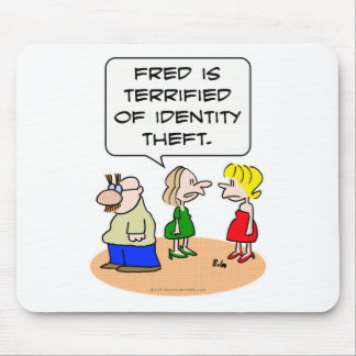 groucho glasses terrified identity theft mouse pad