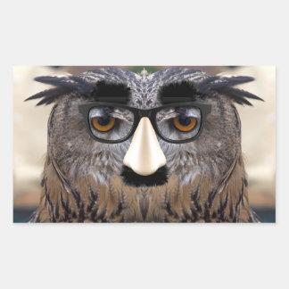 Groucho Marx Eagle Owl Rectangular Sticker