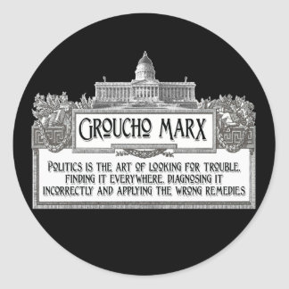 Groucho Marx en política Etiqueta