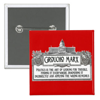 Groucho Marx en política Pins