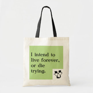 """Groucho Marx """"Live Forever"""" Tote"""