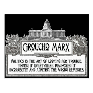 Groucho Marx on Politics Postcard