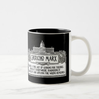 Groucho Marx on Politics Two-Tone Coffee Mug