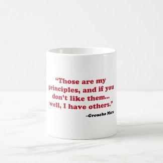 Groucho Marx - principles Coffee Mug