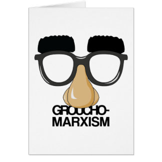 Groucho-Marxism Stationery Note Card