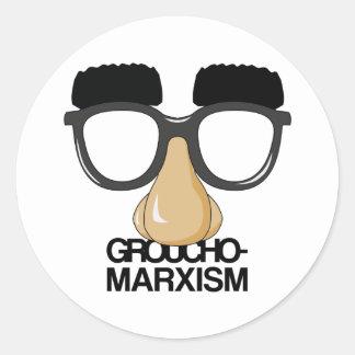Groucho-Marxism Classic Round Sticker