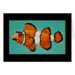 groucho masked clown fish card
