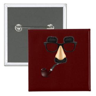 Groucho mustache pipe button