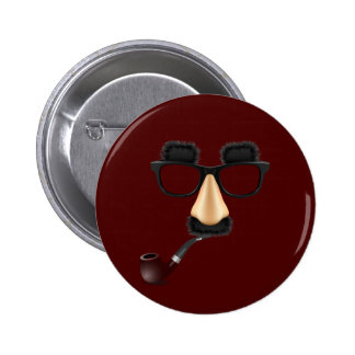 Groucho mustache pipe buttons