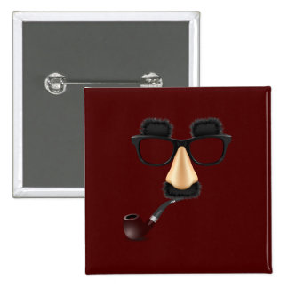 Groucho mustache pipe pin
