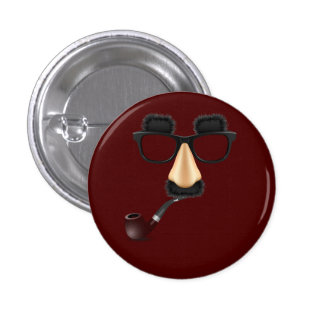 Groucho mustache pipe pinback buttons