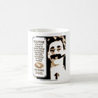 Groucho On Politics Classic White Coffee Mug