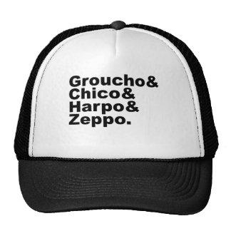 Groucho y Chico y Harpo y Zeppo Gorras De Camionero