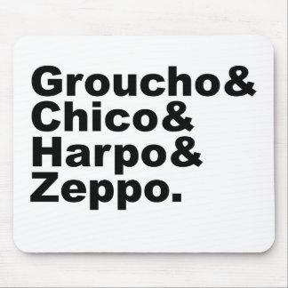 Groucho y Chico y Harpo y Zeppo Alfombrillas De Raton