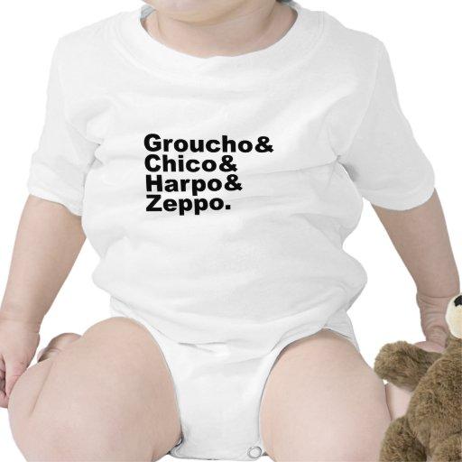 Groucho y Chico y Harpo y Zeppo Trajes De Bebé