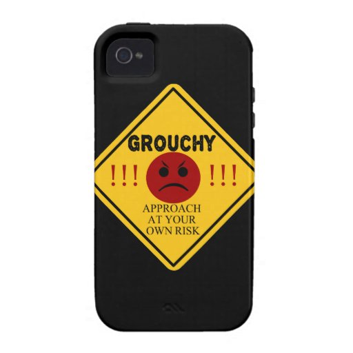 Grouchy. Approach at your own risk. iPhone 4/4S Covers