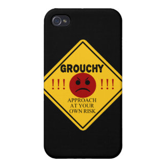 Grouchy. Approach At Your Own Risk Cover For iPhone 4
