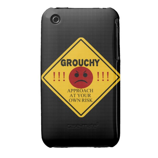 Grouchy. Approach at your own risk. iPhone 3 Case-Mate Case