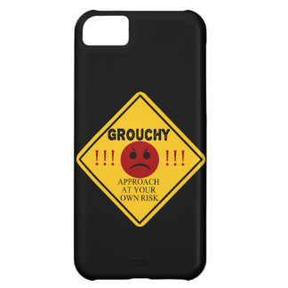 Grouchy. Approach at your own risk. iPhone 5C Cases
