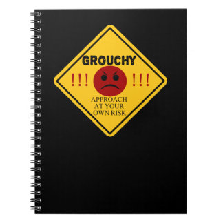 Grouchy. Approach at your own risk. Notebook