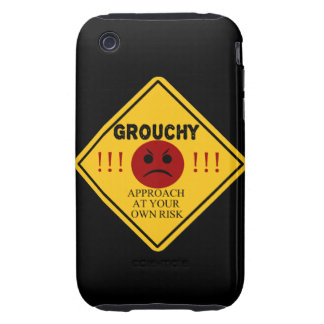 Grouchy. Approach at your own risk. Tough iPhone 3 Cover