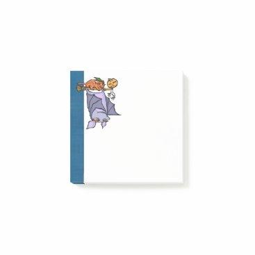 "Halloween Themed Grouchy Bat Cat Halloween 3"" x 3"" Post-it® Notes"