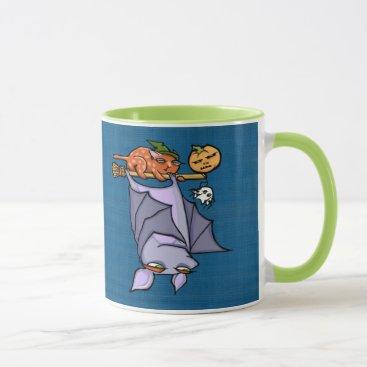Halloween Themed Grouchy Bat Cat Halloween Combo Mug