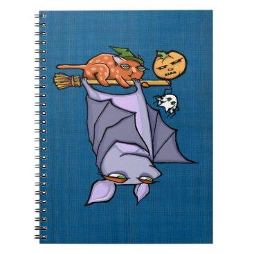 Halloween Themed Grouchy Bat Cat Halloween Photo Notebook