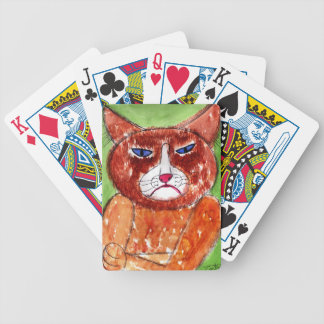 Grouchy Cat Bicycle Playing Cards