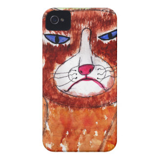 Grouchy Cat iPhone 4 Case-Mate Case
