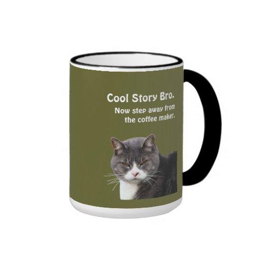 Grouchy Cat Needs Coffee - Customizable Mug