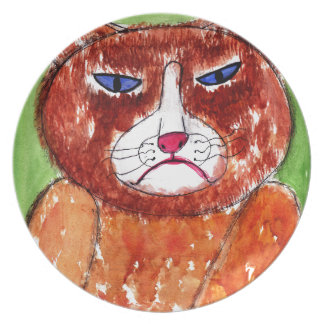 Grouchy Cat Plate
