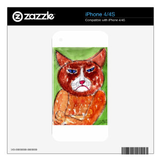 Grouchy Cat Skins For The iPhone 4S