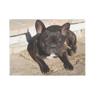 Grouchy French Bulldog Doormat