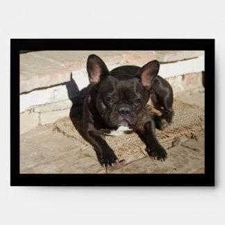 Grouchy French Bulldog Envelope