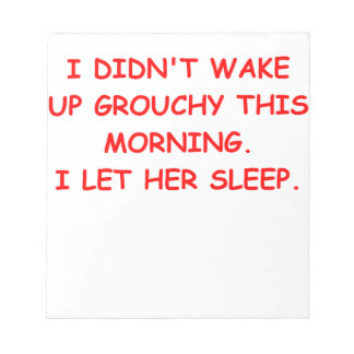 grouchy memo note pad