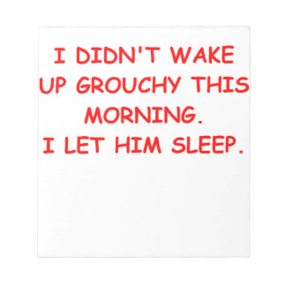grouchy memo note pads