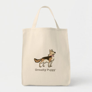Grouchy Puppy Grocery Tote Grocery Tote Bag