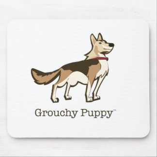 Grouchy Puppy Mousepad