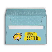 Grouchy Rabbit blue Easter A7 Card Envelope
