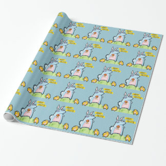 Grouchy Rabbit Easter blue Wrapping Paper