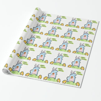 Grouchy Rabbit Easter dots Wrapping Paper