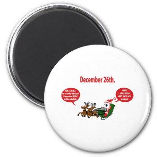 Grouchy Santa 2 Inch Round Magnet