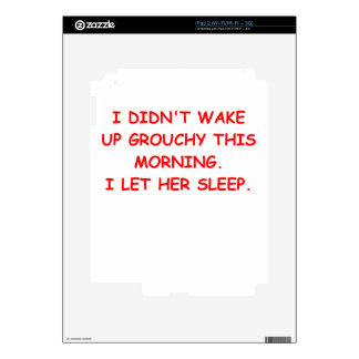 grouchy decal for the iPad 2