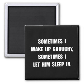 Grouchy Sleep 2 Inch Square Magnet